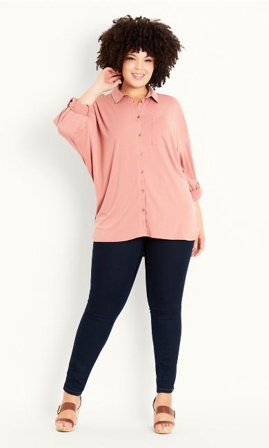 Jersey Oversized Shirt - pink