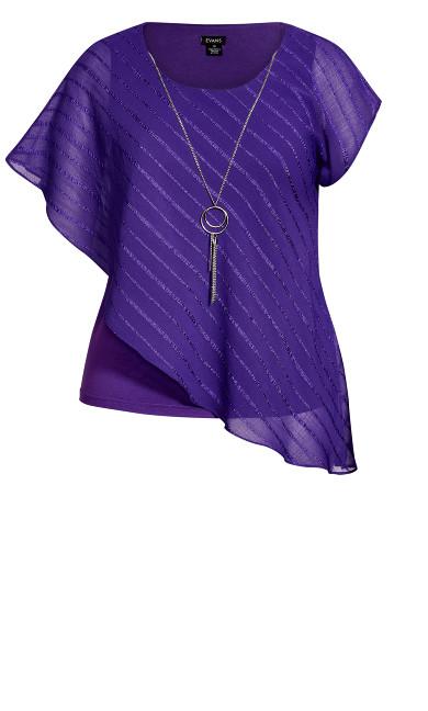 Emalia Overlay Top - purple