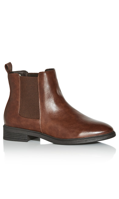 EXTRA WIDE FIT Amber Ankle Boot - brown