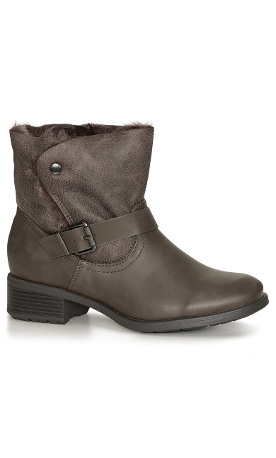 EXTRA WIDE FIT Beauty Ankle Boot - taupe