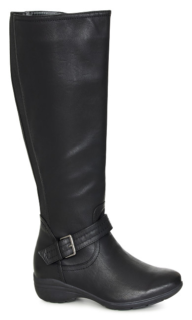 EXTRA WIDE FIT Martini Long Boot - black
