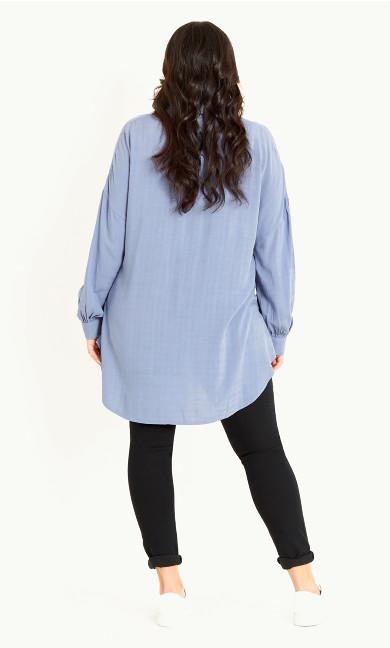 Shadow Check Shirt - blue