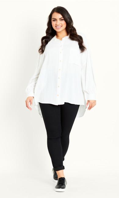 Shadow Check Shirt - white