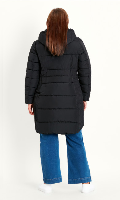 Padded Coat - black