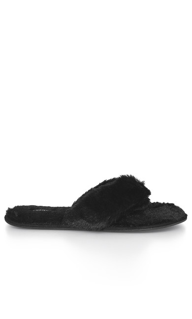 EXTRA WIDE FIT Diana Slipper - black