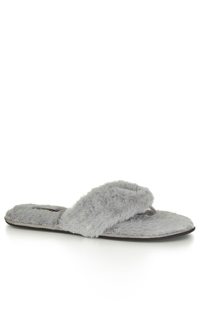 EXTRA WIDE FIT Diana Slipper - grey