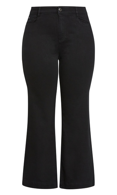Wide Leg Jean Black - regular