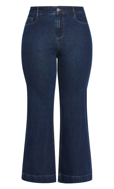 Wide Leg Jean Dark Wash - indigo