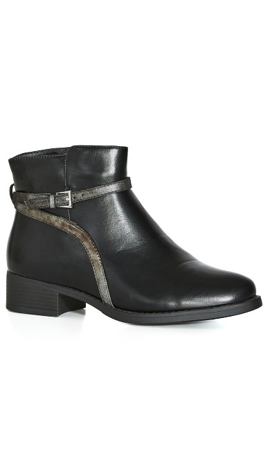 EXTRA WIDE FIT Nicole Ankle Boot - black