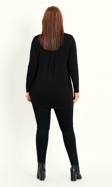 Jersey Plain Shirt - black
