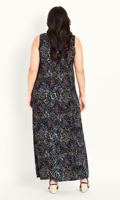 Leaf Maxi Dress - black