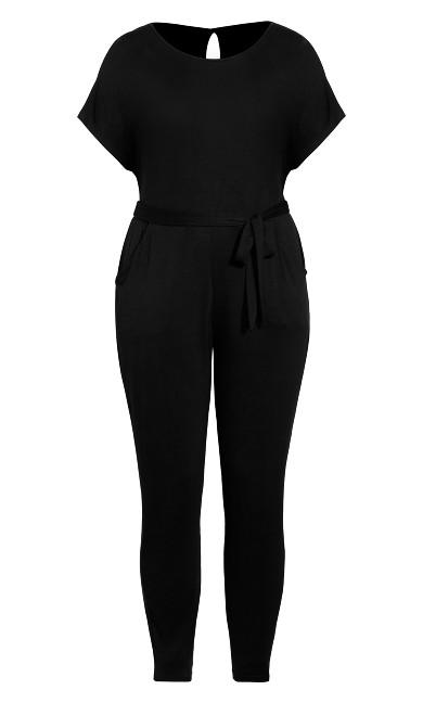 Short Sleeve Jumpsuit - black