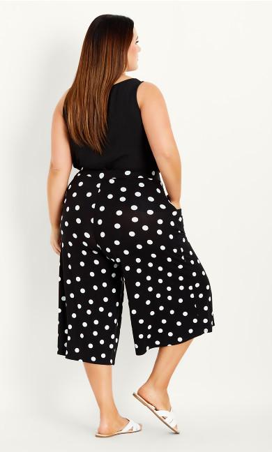 Spot Crop Trouser - black