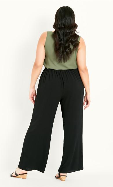 Pebble Wide Leg Trouser - black