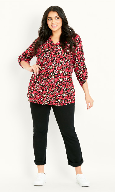 Jersey Print Shirt - red