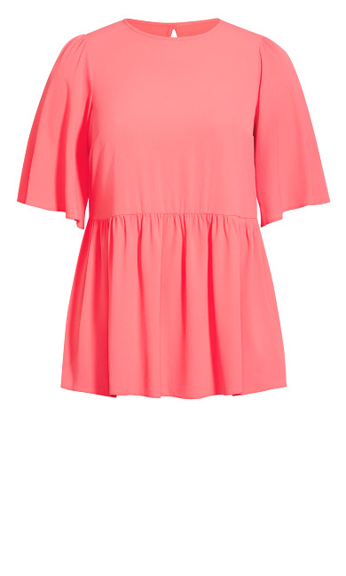 Peplum Hem Top - pink