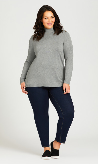 Plus Size Wanna Betta Butt Straight Leg Jean - darkwash