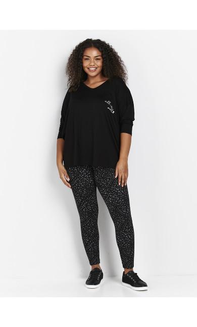Black Animal Print Leggings