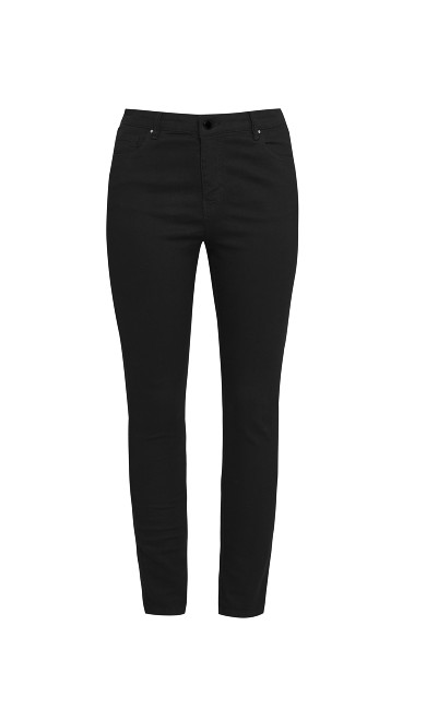 Black Ultra Stretch Skinny Jeans - Regular Length