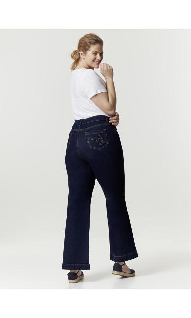 Indigo Wide Leg Jeans - Regular Length