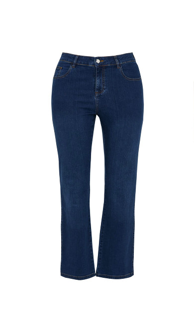 Straight Leg Jean - dark denim