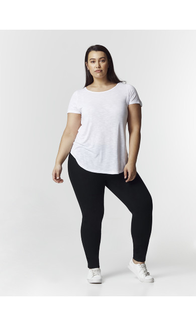 CURVE FIT Black Flat Front Jeggings