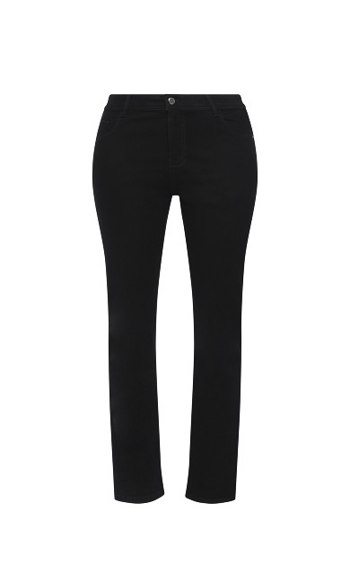 Straight Leg Jean - black - Short Length