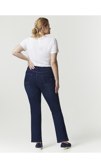 Midwash Straight Leg Jeans - Short Length
