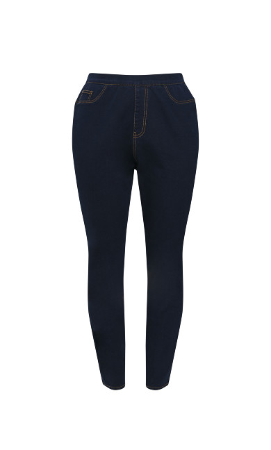 CURVE FIT Indigo Jeggings - Short Length