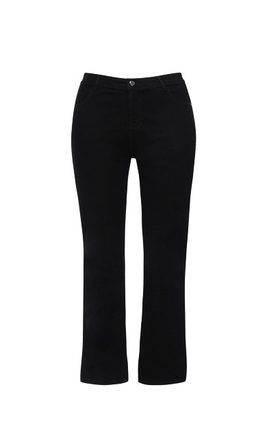 Black Straight Leg Jeans - Short Length
