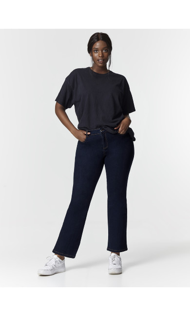 Indigo Bootcut Jeans - Short Length