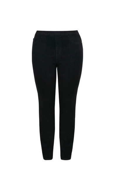 Tapered Leg Jegging Black - tall