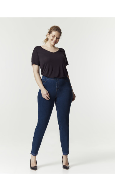 Midwash Curve Flat Front Jeggings - Regular Length