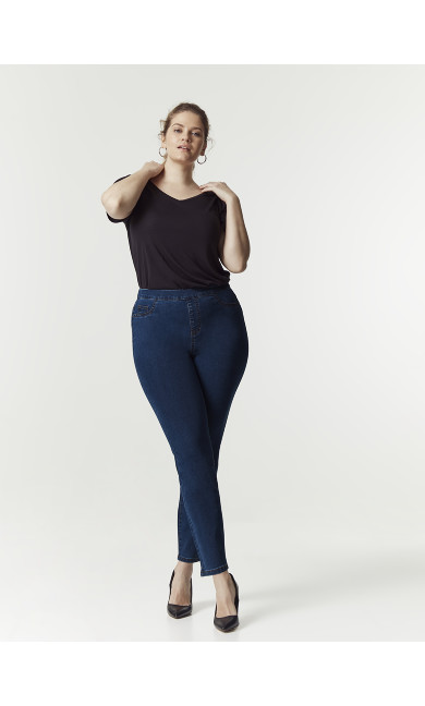 Curve Jegging Mid Wash - short