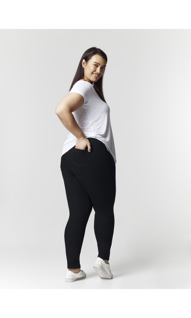 Black Jeggings - Short Length