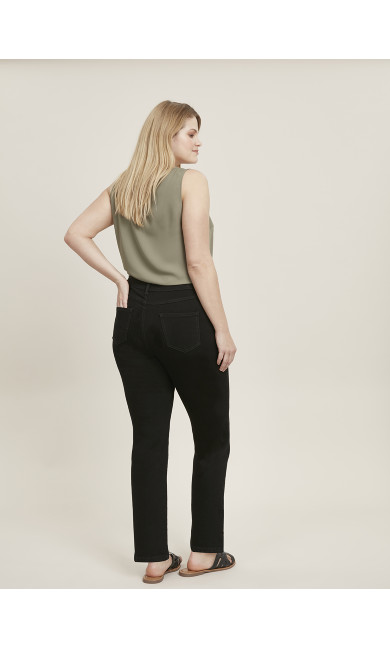 Straight Leg Jeans Black - regular