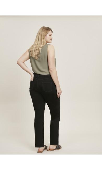 Curve Straight Leg Jean Black - petite