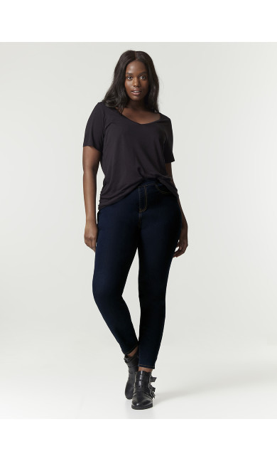 Indigo Flat Front Jeggings - Short Length