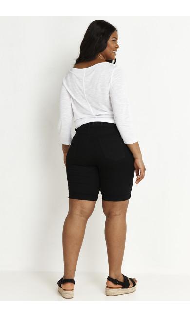 Long Denim Short - black