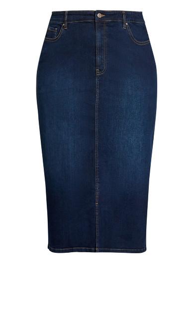 Classic Denim Skirt - indigo