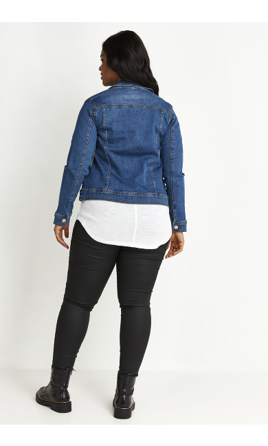 Mid Wash Denim Jacket