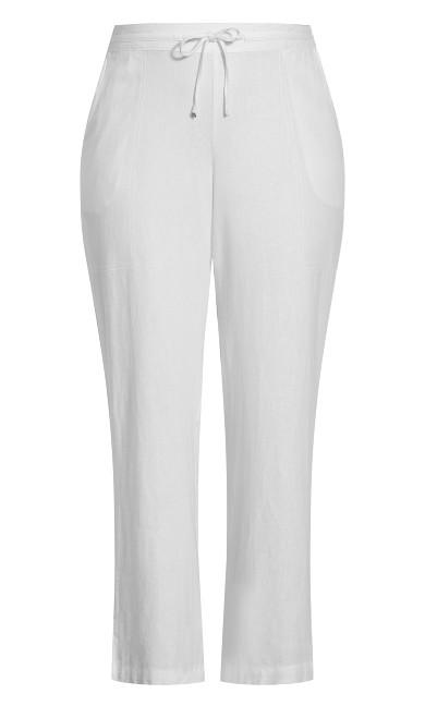 Linen Blend Trouser White - regular