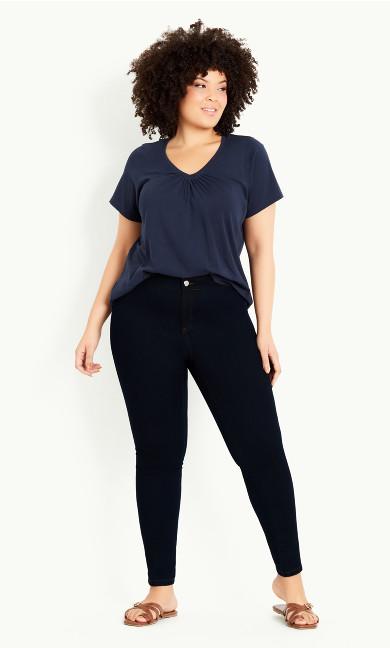 High Waist Skinny Jean - denim