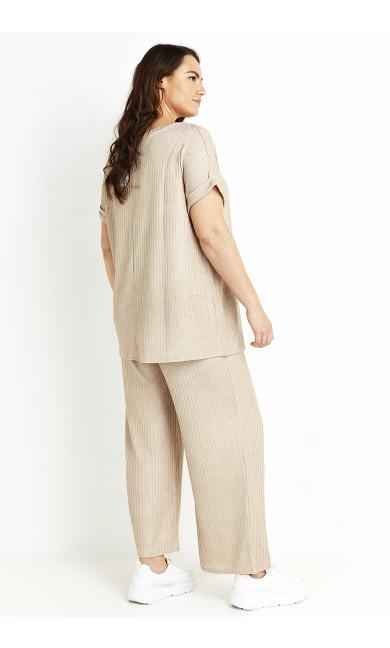 Lurex Rib Trouser - neutral