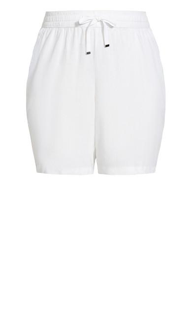 Linen Blend Short - white