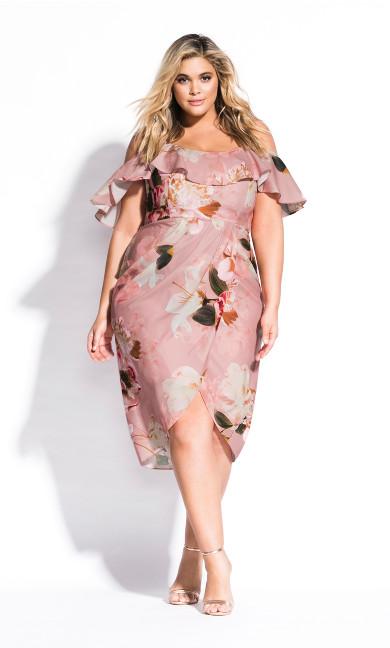 Women's Plus Size English Rose Dress - rose