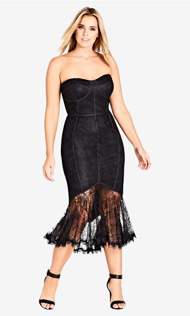Women's Plus Size So Seductive Dress - Black