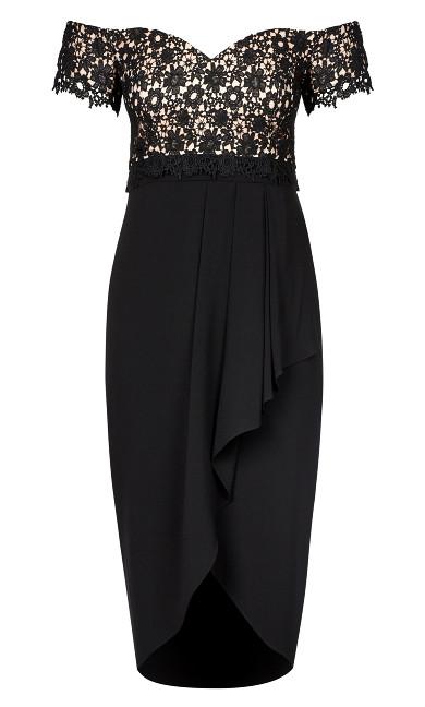 Lace Glamour Maxi Dress - black