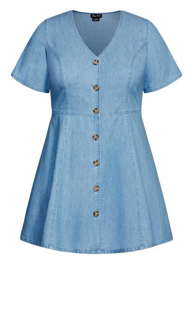 Soft Denim Dress - chambray