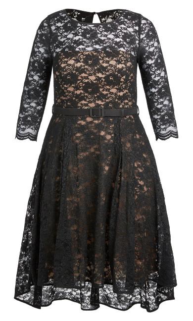Lace Lover Dress - black